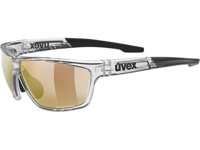 UVEX Sportstyle 706 Colorvision Variomatic Glasses, transparente/negro